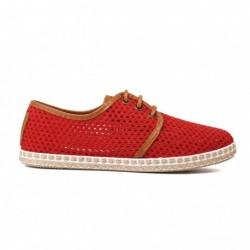 Zapatillas Flossy rejilla sotes rojo