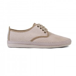 Zapatillas Flossy perforadas rifle beige